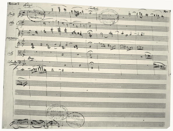Writing「Music notes written by Austrian composer Wolfgang Amadeus Mozart (1756-1791)」:写真・画像(4)[壁紙.com]