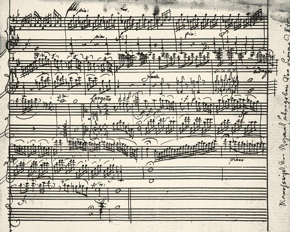 Composition「Music notes written by Austrian composer Wolfgang Amadeus Mozart (1756-1791)」:写真・画像(5)[壁紙.com]