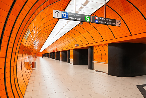 Munich「Empty Marienplatz subway station, Munich, Germany」:スマホ壁紙(14)