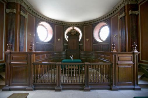 Balustrade「USA, Virginia, Colonial Williamsburg, historic court room in Capitol Building」:スマホ壁紙(17)