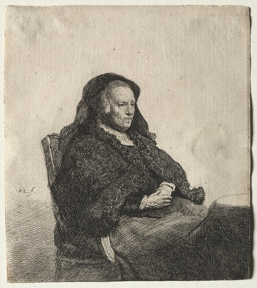 Etching「The Artists Mother Seated At A Table,」:写真・画像(11)[壁紙.com]