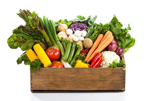 Vegetables「野菜のバスケット」:スマホ壁紙(15)