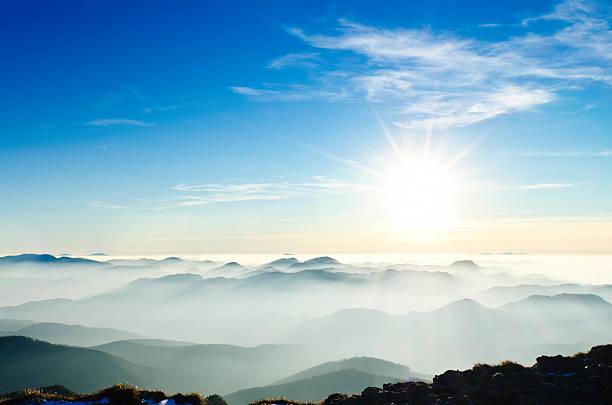 sunset in mountains:スマホ壁紙(壁紙.com)