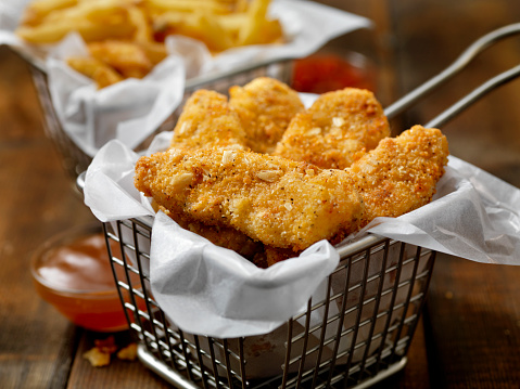 Chicken Meat「Vegan, Meatless-Plant Based Protein Chicken Strips with a Seven Grain Coating and Fries」:スマホ壁紙(13)