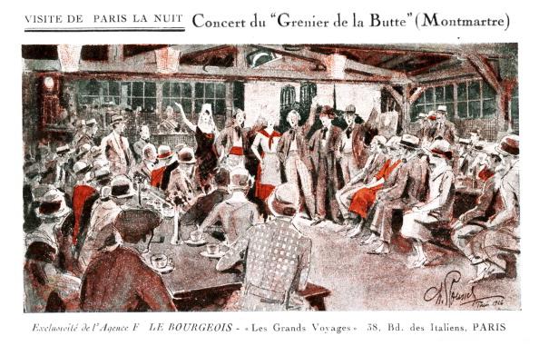 City Life「Concert at Grenier de la Butte,  Montmatre」:写真・画像(4)[壁紙.com]