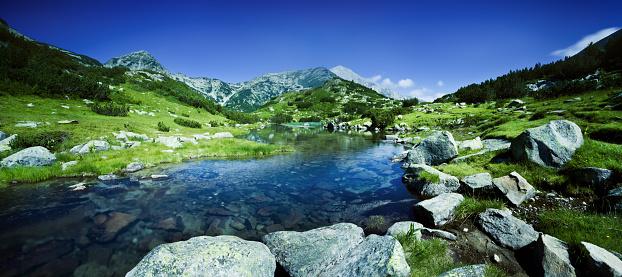 ヨーロッパアルプス「川 Pirin 山脈」:スマホ壁紙(16)