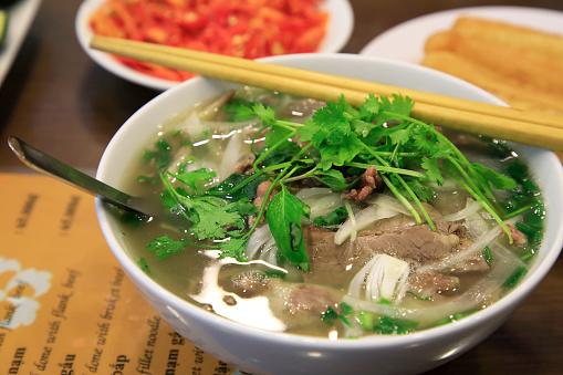 Vietnamese Cuisine「Pho Tai Bap noodle soup」:スマホ壁紙(16)