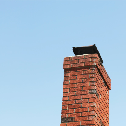 縁なし帽子「赤れんがの煙突とブルースカイ」:スマホ壁紙(8)