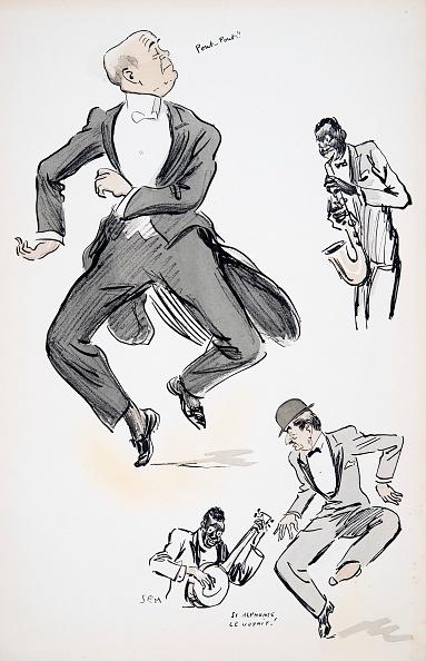 バンジョー「Gentleman In White Tie And Gentleman In Bowler Hat Try Out Dancing To Jazz?」:写真・画像(6)[壁紙.com]