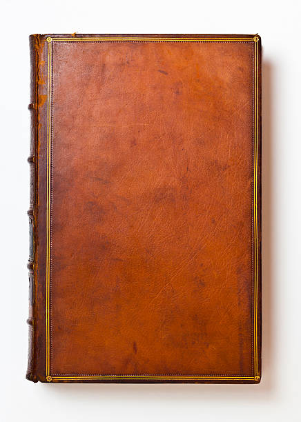 Brown Antique Leather Book Cover:スマホ壁紙(壁紙.com)