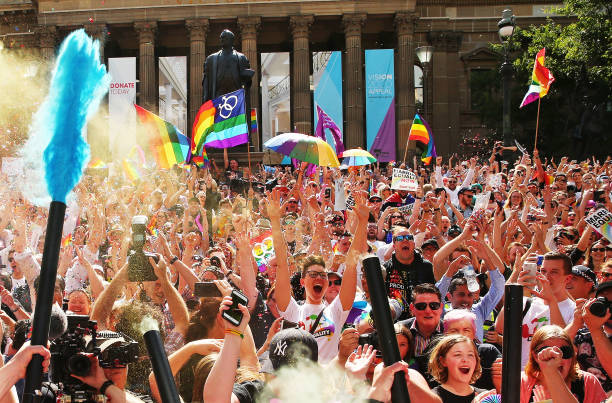 Australians Gather To Hear Result Of Marriage Equality Survey:ニュース(壁紙.com)