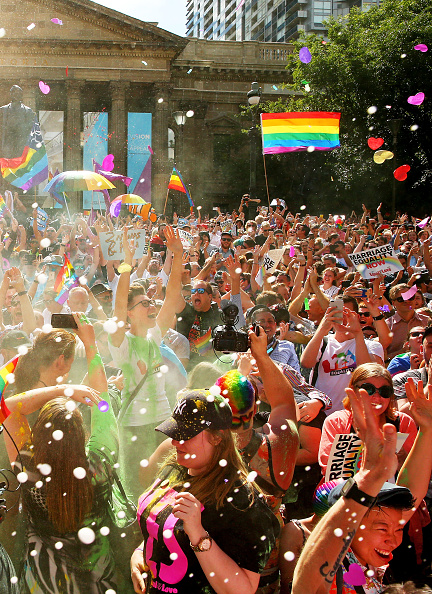 Repetition「Australians Gather To Hear Result Of Marriage Equality Survey」:写真・画像(13)[壁紙.com]