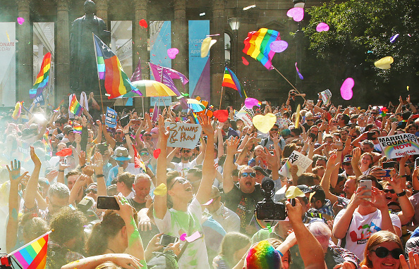Melbourne - Australia「Australians Gather To Hear Result Of Marriage Equality Survey」:写真・画像(10)[壁紙.com]
