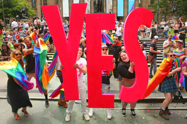 Australia「Australians Gather To Hear Result Of Marriage Equality Survey」:写真・画像(19)[壁紙.com]