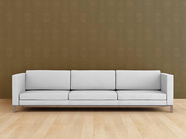 White modern sofa (XXL):スマホ壁紙(壁紙.com)
