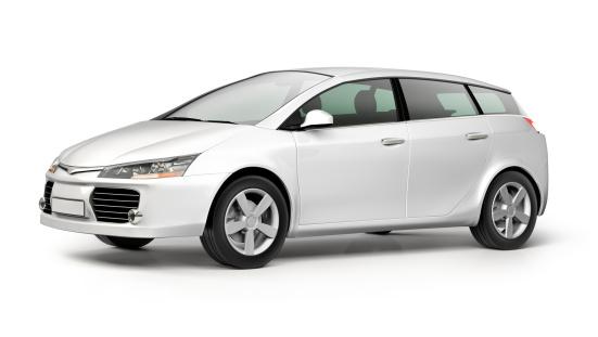 Generic - Description「White modern compact car on white background」:スマホ壁紙(10)