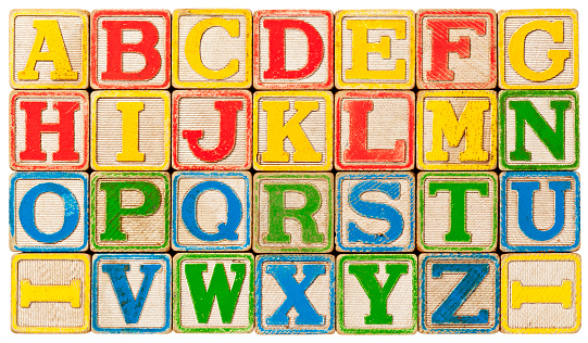 Alphabet「ABC's, Alphabet spelled out with Antique Toy Blocks.」:スマホ壁紙(8)