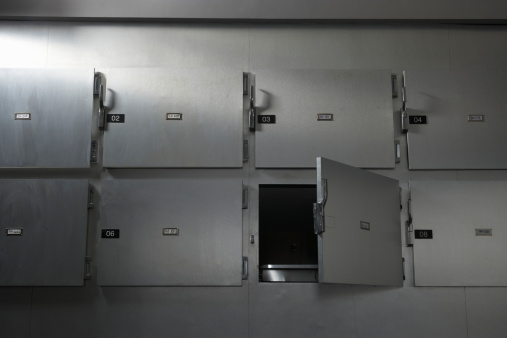 """Part of a Series「""""Morgue in hospital, low angle view""""」:スマホ壁紙(7)"""