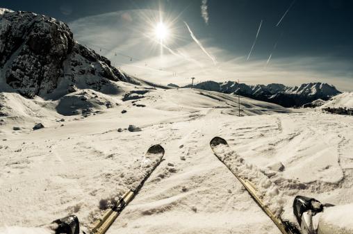 スキー「スキースロープに」:スマホ壁紙(18)