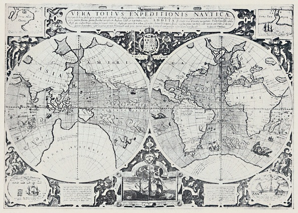 Direction「Map Showing Drakes Voyage Of Circumnavigation (1577-1580) 1」:写真・画像(19)[壁紙.com]