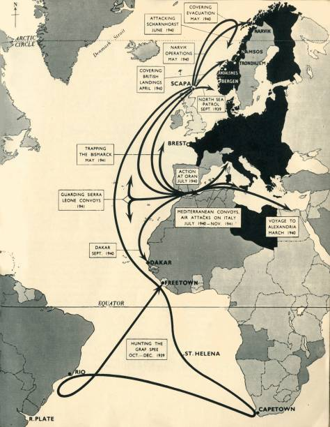 Map Showing The Movements Of Hms Ark Royal:ニュース(壁紙.com)