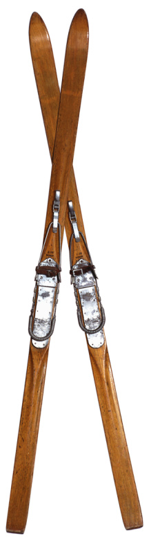 スキー「Old skis, crossed」:スマホ壁紙(18)