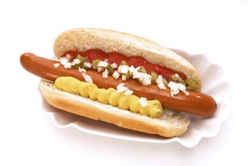 Hot Dog「Hot Dog with mustard and ketchup」:スマホ壁紙(1)