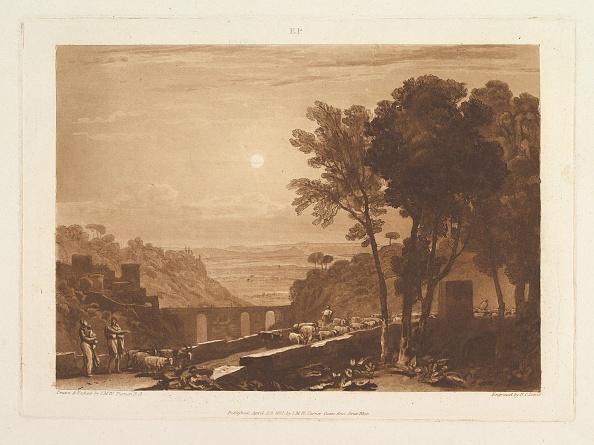 Etching「The Bridge And Goats (Liber Studiorum」:写真・画像(9)[壁紙.com]