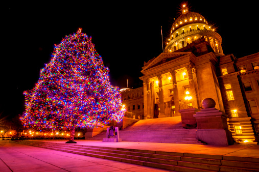 Boise「Idaho State Capitol and Christmas tree」:スマホ壁紙(19)