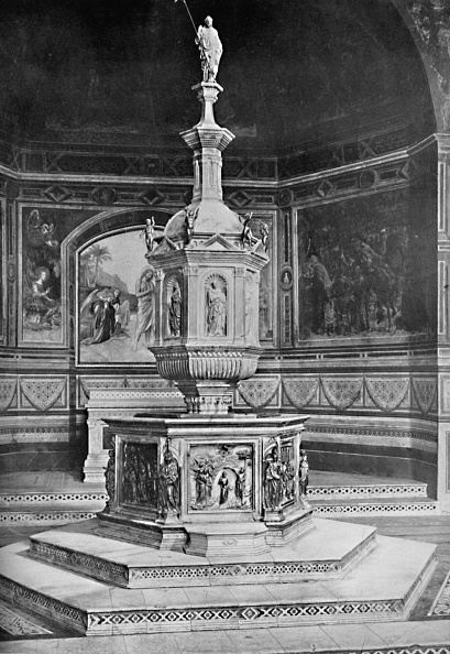 Circa 14th Century「The Font In The Church Of San Giovanni Siena 1903」:写真・画像(6)[壁紙.com]