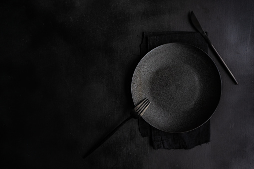 Plate「Overhead view of a place setting on a table」:スマホ壁紙(5)