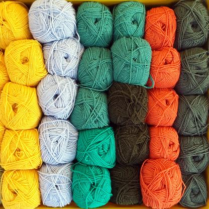 豊富「Overhead view of balls of wool」:スマホ壁紙(19)