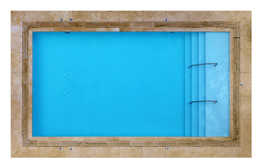 Rectangle「Overhead View of a Swimming Pool Isolated on White」:スマホ壁紙(9)