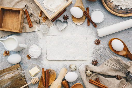 Star Anise「Overhead view of baking ingredients」:スマホ壁紙(10)