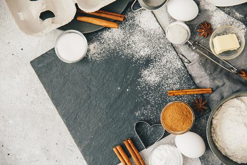 Star Anise「Overhead view of baking ingredients」:スマホ壁紙(14)