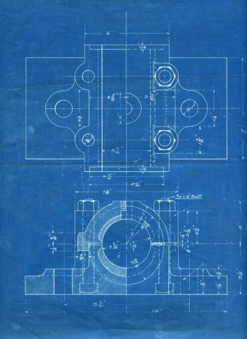 機械「機械部品の設計図」:スマホ壁紙(10)