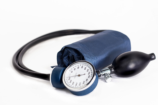 Medical Equipment「Blue and Black Blood Pressure Medical Cuff isolated on white」:スマホ壁紙(9)