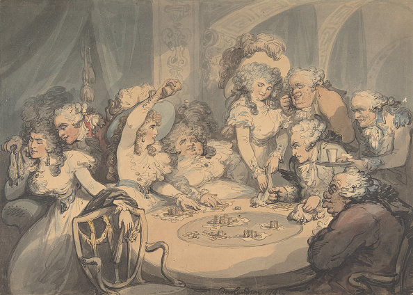 Cartoon「A Gaming Table At Devonshire House」:写真・画像(16)[壁紙.com]