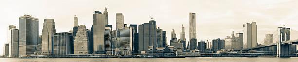 Lower Manhattan skyline panorama:スマホ壁紙(壁紙.com)