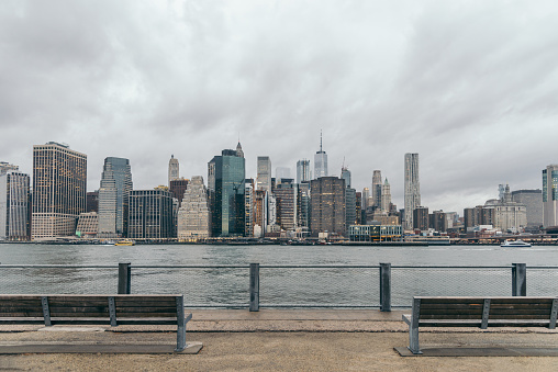 Riverbank「Lower Manhattan skyline, New York skyline」:スマホ壁紙(15)
