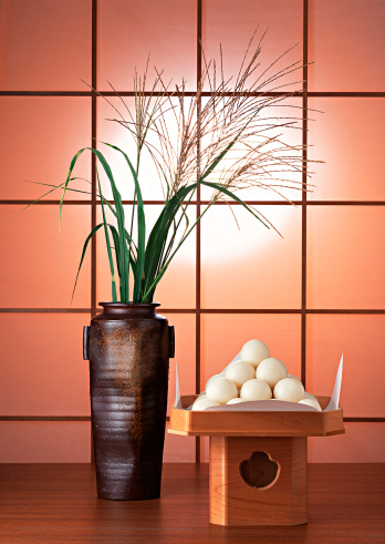 Japanese pampas grass「Dumplings Offered to the Moon and Japanese Pampas Grass」:スマホ壁紙(19)