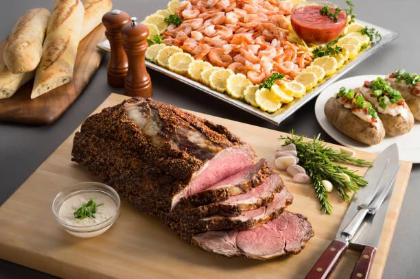 Prime Rib Roast & Shrimp Platter:スマホ壁紙(壁紙.com)