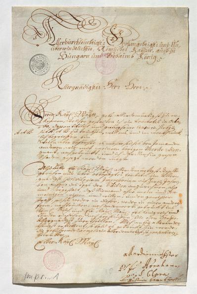 Manuscript「Abraham A Sancta Clara Requested To Provide A Printing Privilege」:写真・画像(5)[壁紙.com]