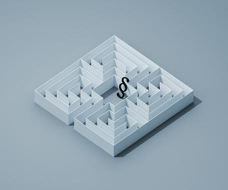 Legislation「Paragraph icon in a maze」:スマホ壁紙(14)