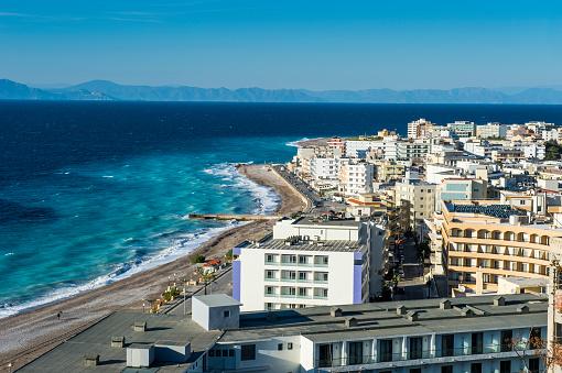 Aegean Sea「Greece, Rhodes, The new town at the coast」:スマホ壁紙(4)