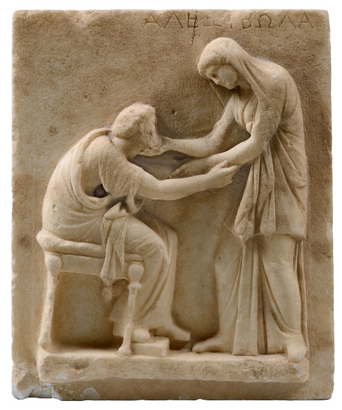 Painted Image「Funerary Stele From The Cemetery Of Ancient Thera」:写真・画像(9)[壁紙.com]