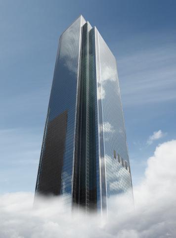 City Of Los Angeles「Building Rising above Cloud」:スマホ壁紙(9)