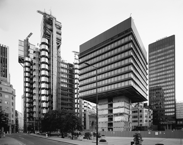 122 Leadenhall Street「Leadenhall Building, Central London, UK (B&W)」:写真・画像(15)[壁紙.com]