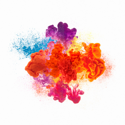 Splashing「Paint explosion」:スマホ壁紙(1)
