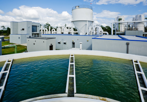 Public Utility「Overlooking a Water Tank at Water Treatment Plant」:スマホ壁紙(8)